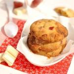 Cookies moelleux au chocolat blanc et fraises séchées