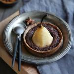 Tartelettes poires, crème d'amande au chocolat