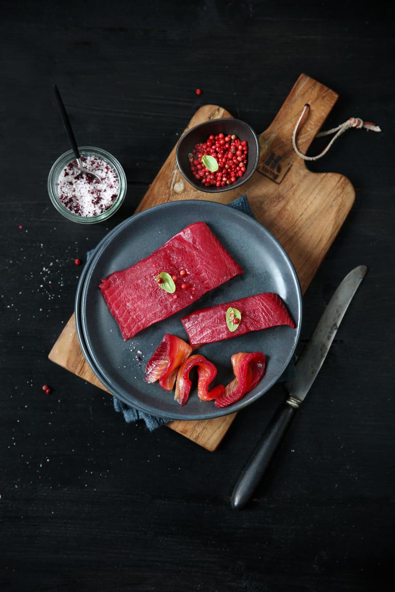 gravlax de saumon à la betterave BD