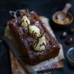 Cake aux poires, noisettes du Piémont et Gianduja