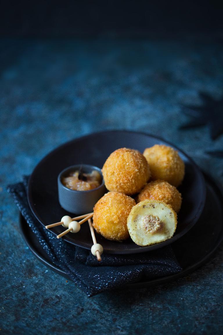Cromesquis truffe et foie gras