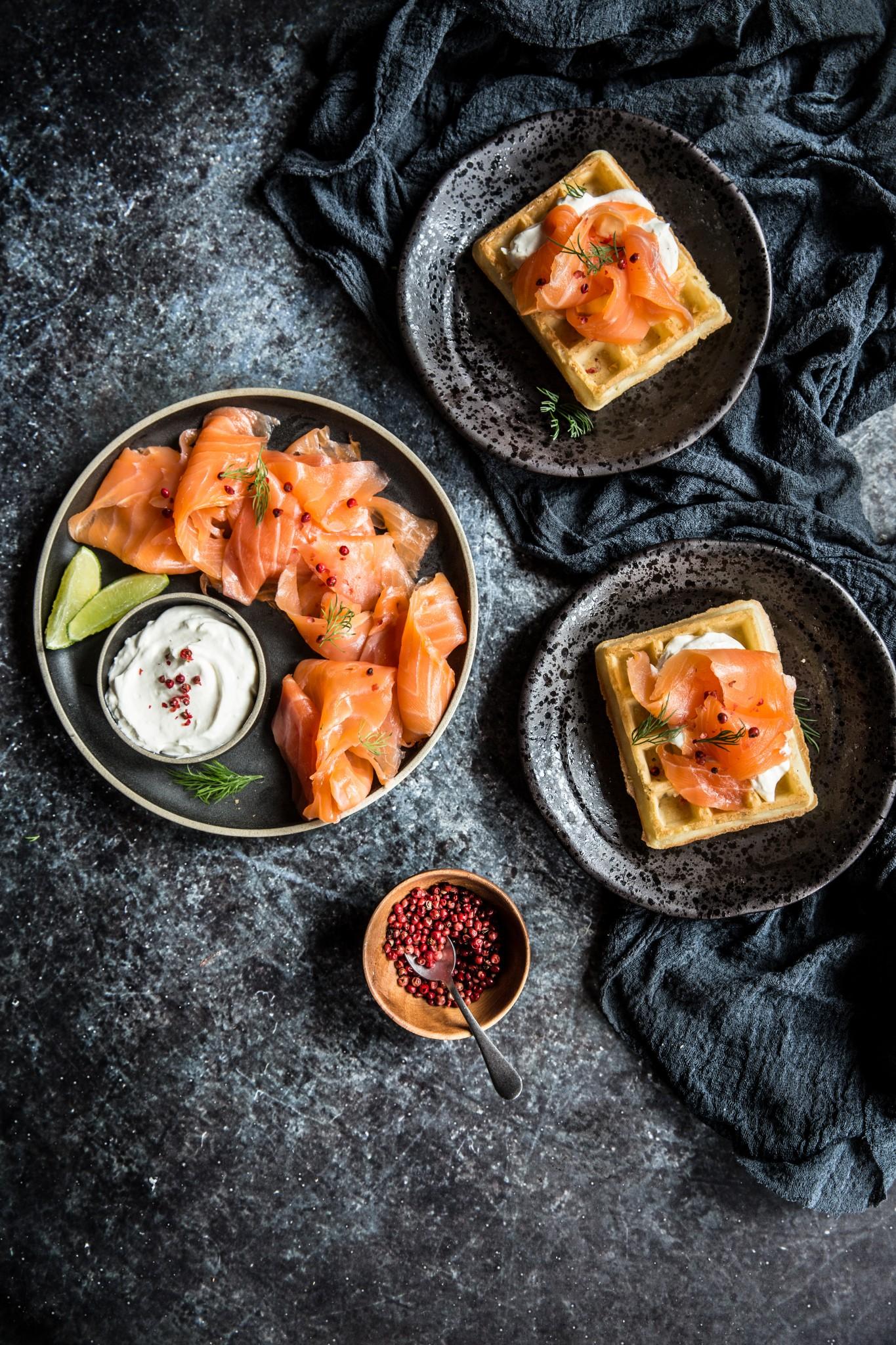 gaufre saumon chantilly citron vert (1 sur 1)