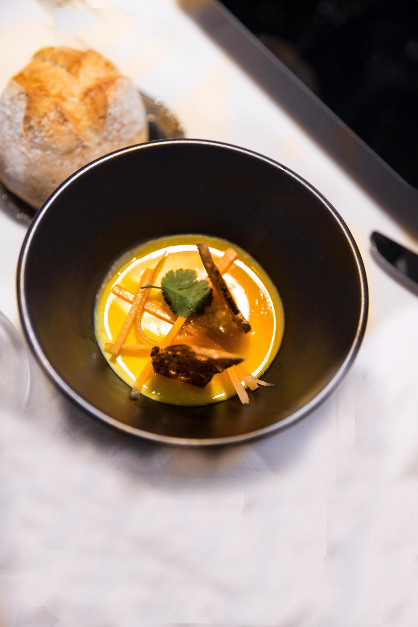 Royale de foie gras, transparence orange safran Jeremy galvan DEF