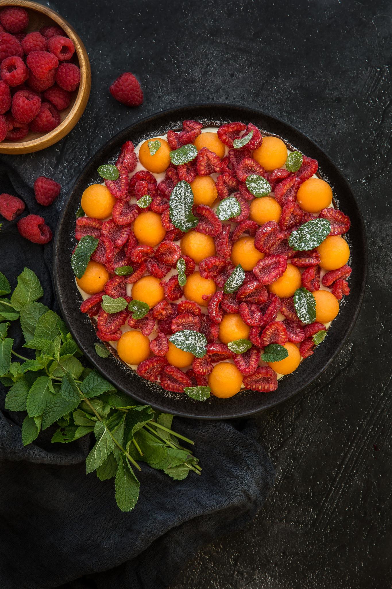 tarte framboise melon (1 sur 1)