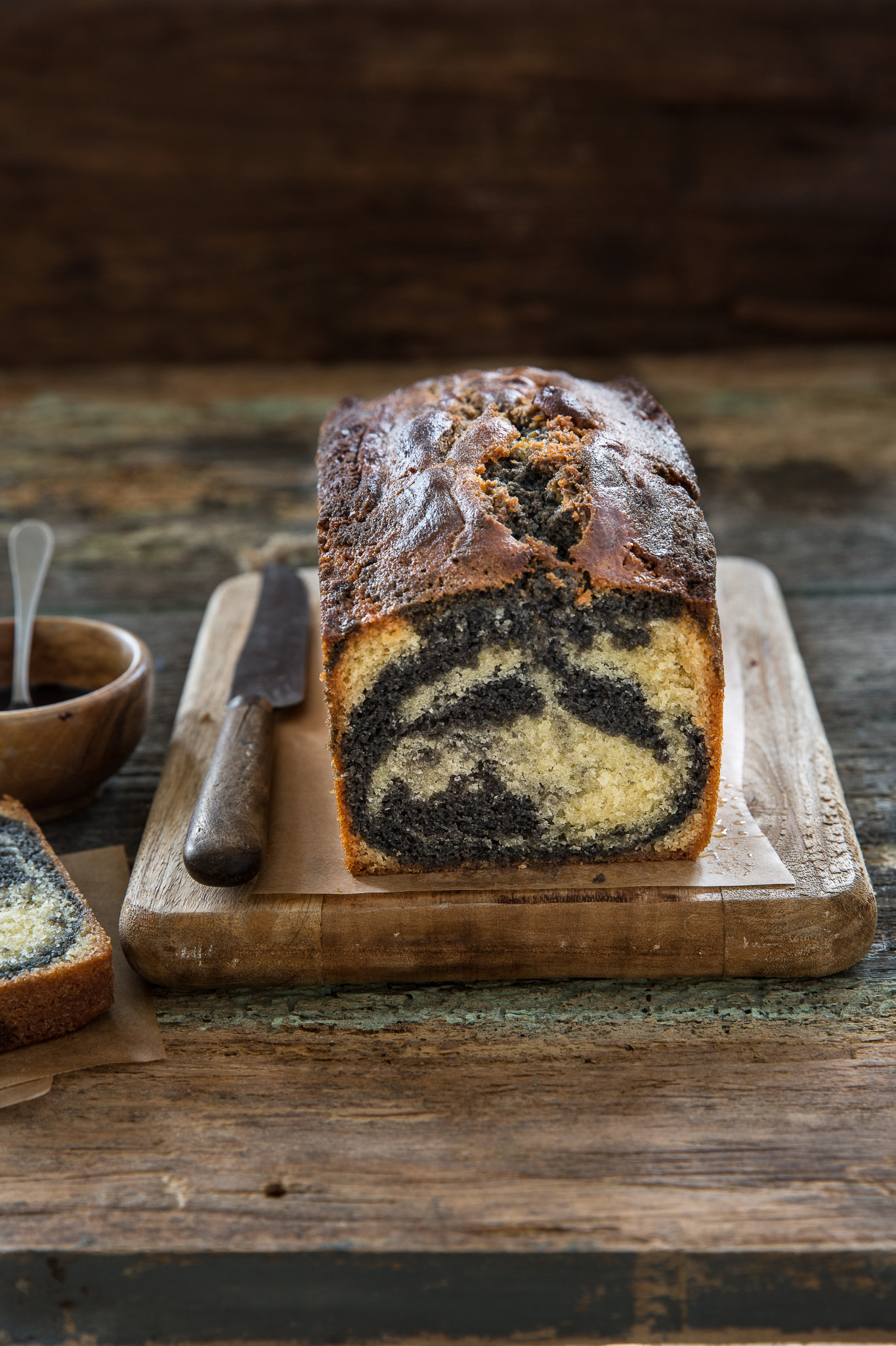 cake marbré vanille sesame noir