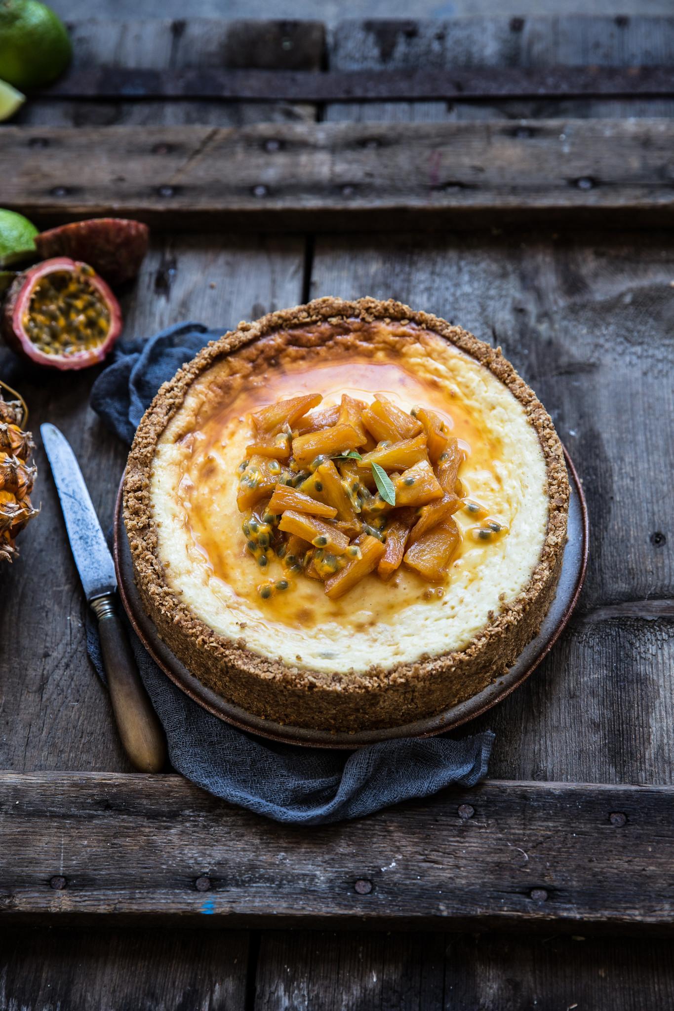 Cheesecake ananas passion