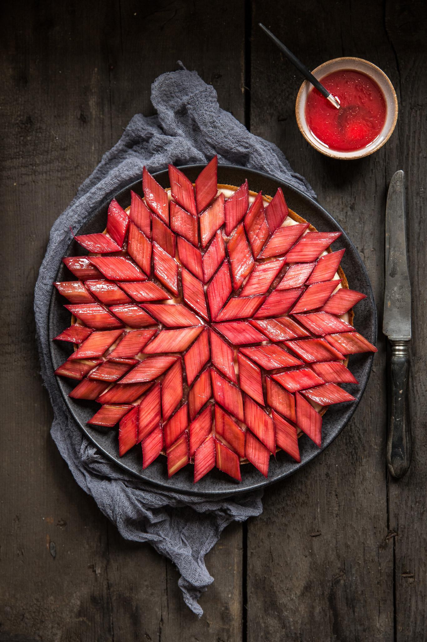 Que Faire Des Fleurs De Rhubarbe tarte graphique à la rhubarbe   stephatable